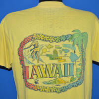 60s Hawaii Surfing Rainbow Distressed t-shirt Large