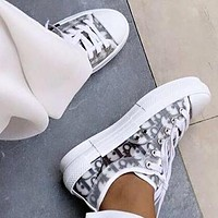DIOR Trending Women Personality Low Help Sport Sneakers Shoes