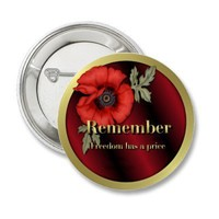 Remember Poppy Pinback Buttons from Zazzle.com