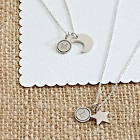 Moon + Star Best Friends Necklace