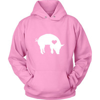 Hug Your Pig Bacon Lover Women's & Men's Unisex Casual Pink Pullover Hoodie