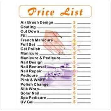 FJ Salon Price List