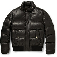 Givenchy Down-Filled Leather Jacket | MR PORTER