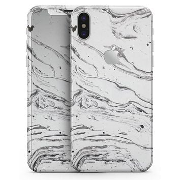 Mixtured BW Textured Marble - iPhone X Skin-Kit