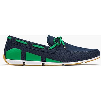 Men's Water Resistant Breeze Loafer in Navy, Green and White by SWIMS