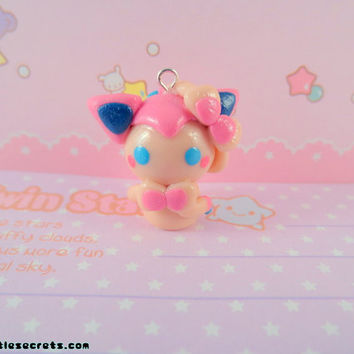 Pokemon Sylveon Ninfia Chibi Kawaii Phone Charm / Necklace