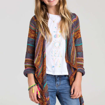 Billabong Girls - Listen Up Cardigan | Black Cherry
