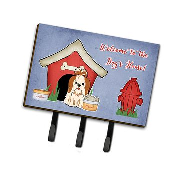 Dog House Collection Shih Tzu Red White Leash or Key Holder BB2841TH68