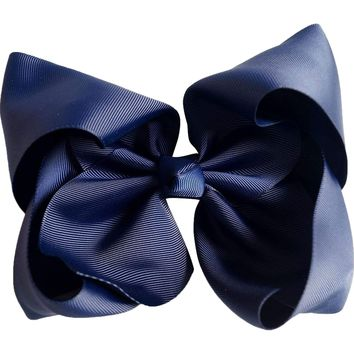 Grosgrain Boutique Hairbow, Navy