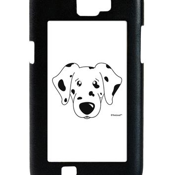 Cute Dalmatian Dog Galaxy Note 2 Case  by TooLoud