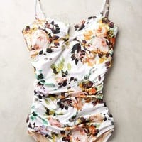 Sirena Ruched Maillot by Anthropologie