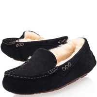 Ugg Black Ansley Driving Slippers | Shoes | Liberty.co.uk