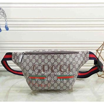 Gucci Fashion Leather Satchel Waist Bag Shoulder Bag
