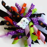 Halloween Headband for Girls - Ghost Headband - Baby Halloween Headband - Korker Hair Bow - Halloween Photo Prop - Halloween Korker Hair Bow