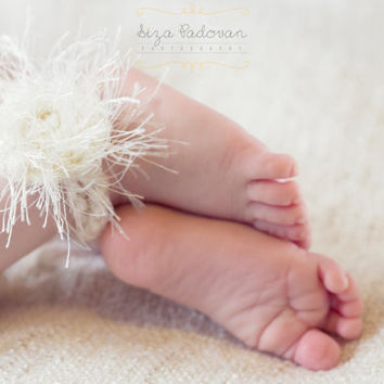 Kids Jewelry Accessories Barefoot Foot Newborn Photo Prop Pair Anklets Bracelet Brooch