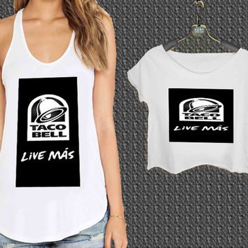 Taco Bell For Woman Tank Top , Man Tank Top / Crop Shirt, Sexy Shirt,Cropped Shirt,Crop Tshirt Women,Crop Shirt Women S, M, L, XL, 2XL
