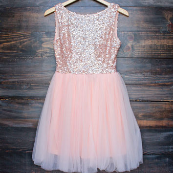 sugar plum dazzling rose pink sequin darling party dress
