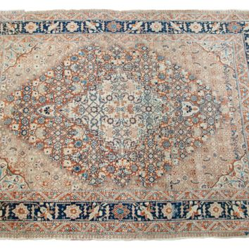 4x6 Fine Antique Tabriz Area Rug