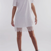 English Factory Lace Dress in White