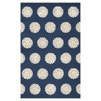 Daisy Dot Rug, Royal Navy/Yellow