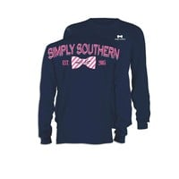 Palmetto Moon | Simply Southern Striped Bow Tie Long Sleeve T-shirt | Palmetto Moon