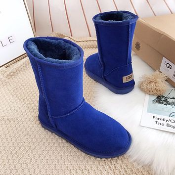 UGG Fashion Plush leather boots boots in tube Boots
