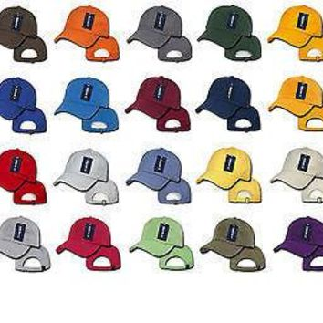 New Washed Polo Sports Cap Baseball Caps Hats Ballcap 100% Cotton Decky 760