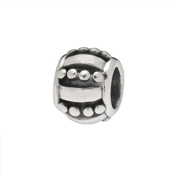 Individuality Beads Sterling Silver Dot Bead (Grey)