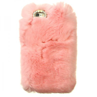 V-FURRY PASTEL PINK IPHONE CASE