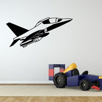 Wall Decor Vinyl Sticker Room Decal Art Airplane Plane Jet For Kids Room Decal 1287