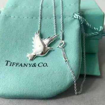 Tiffany & Co. Fashion women Dove Necklace