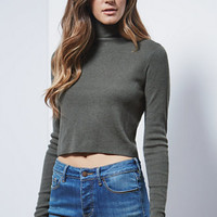 Kendall & Kylie Cropped Turtleneck Pullover Sweater at PacSun.com