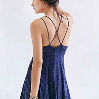 Ecote Chloe Jacquard Fit + Flare Tank Dress - Urban Outfitters