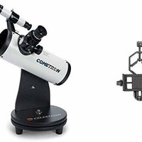 "Celestron 21023 Cometron FirstScope (White) with Basic Smartphone Adapter 1.25"" Capture Your Discoveries"