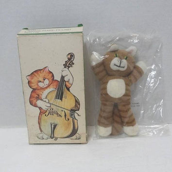1985 Avon Carmichael Mini Plush Toy Tiger, Sealed in Package with Box, Collectible Stuffed Toy, 5.5 Inches Tall, Vintage Avon Toys