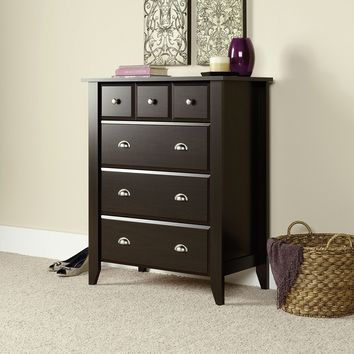 Brown Wood Chest Dresser Extra Deep Drawers Bedroom Home Organizer