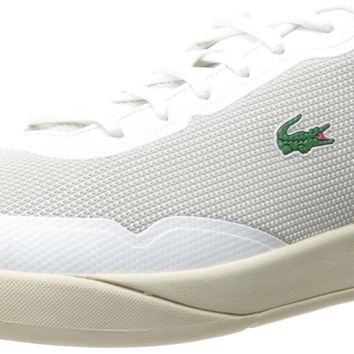 Lacoste Men's Light Spirit 117 3 Casual Shoe Fashion Sneaker White/Off White 7.5 D(M)