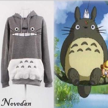 Hayao Miyazaki Anime Women Sweatshirt Cartoon  Pikachu Totoro Animal Hoodie Autumn Winter Outside PulloverKawaii Pokemon go  AT_89_9