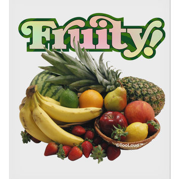 "Fruity Fruit Basket 9 x 10.5"" Rectangular Static Wall Cling"