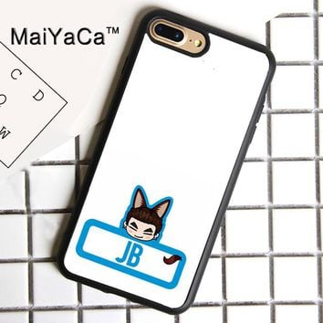 MaiYaCa Kpop GOT7 JB Print Soft Rubber Cover For iPhone 8 Plus Case For Apple iPhone 8plus Phone Cases Shell