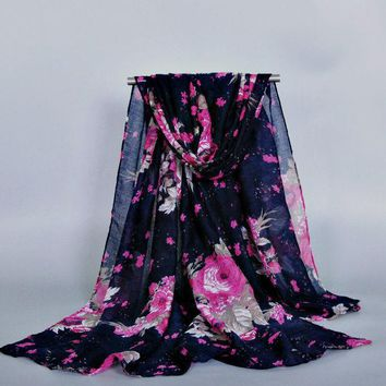DCCKJG2 10PCS/LOT LADIES printe floral viscose printe flower shawls head pashmina cotton hijab muslim wrap scarves/scarf 10pcs/lot
