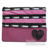 Hello Kitty 3 Pocket Nonwoven Pouch : Pink $3.50