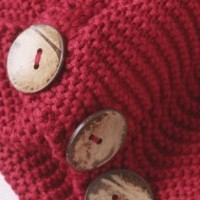 Oversized Button Infinity Scarf