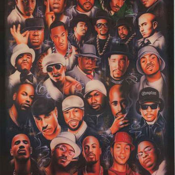Rap Legends Hip Hop Hall of Fame Poster 24x36