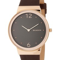 Skagen | Women's Freja Leather Strap Watch | Nordstrom Rack