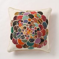 Orimono Pillow, Flower by Anthropologie Multi One Size Bedding