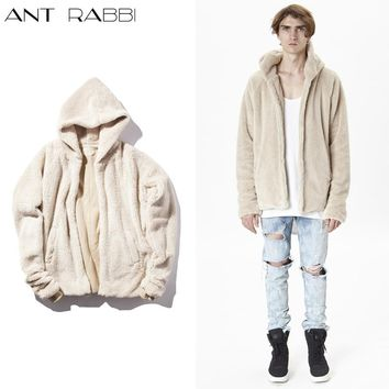 2017 NEW Oversize simple high hip-hop Solid color Men Double layer Sided the fork Hem Male Street rock punk hip-hop Hoodies coat