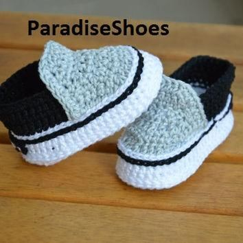 Vans shoes Crochet Baby Booties