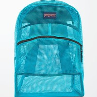 JanSport Mammoth Blue Mesh School Backpack - Womens Backpack - Blue - One
