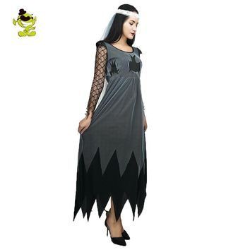 Corpse Bride Sexy Dress Bloody Creepy Zombie Costumes